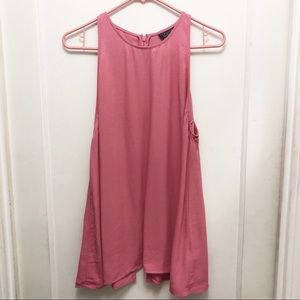 NWT Top Shop Sleeveless Slit Back Blouse. Size 10